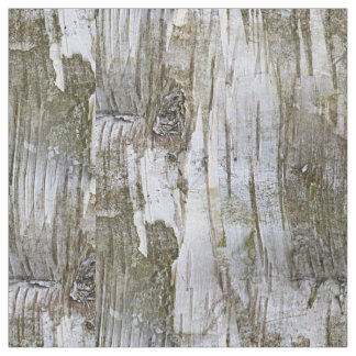 Faux Birch Tree Bark Texture Look Pattern Fabric
