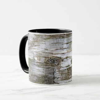 Faux Birch Tree Bark Texture Look Pattern Mug