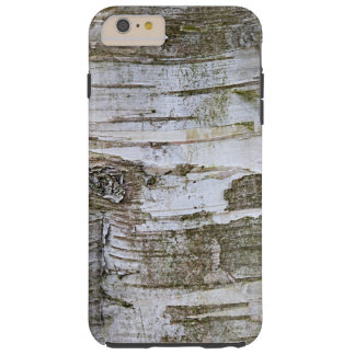 Faux Birch Tree Bark Texture Look Pattern Tough iPhone 6 Plus Case