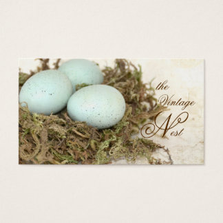 Faux Bird Nest Vintage Style Business Cards