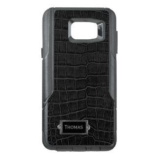 Faux Black Alligator Otterbox Samsung Note 5 Case
