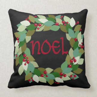 Faux Black Chalkboard | Noel Wreath Cushion