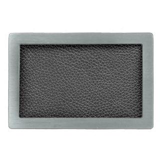 Faux Black Leather Belt Buckles