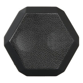 Faux Black Leather Black Bluetooth Speaker