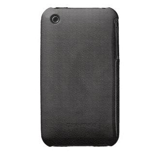Faux Black Leather iPhone 3 Case