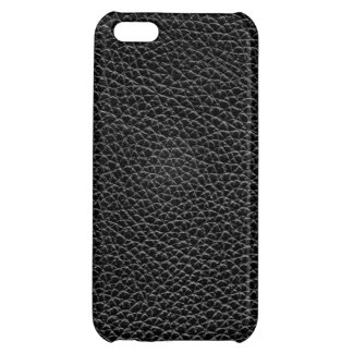 Faux Black Leather iPhone 5C Covers