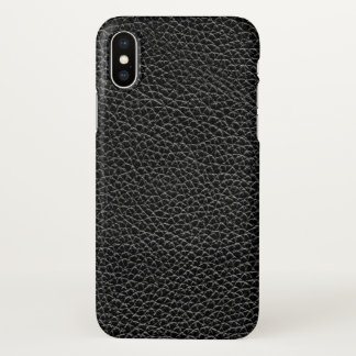 Faux Black Leather iPhone X Case