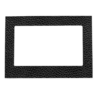Faux Black Leather Magnetic Picture Frame