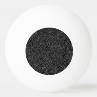 Faux Black Leather Ping Pong Ball