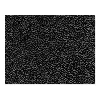 Faux Black Leather Postcard