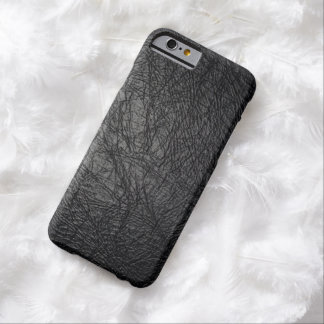 Faux Black Leather Texture iPhone 6 Case