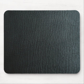 Faux Black Leather Texture Mouse Pad