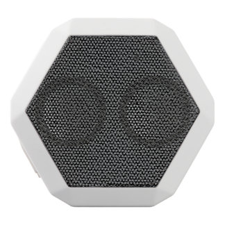 Faux Black Leather White Bluetooth Speaker
