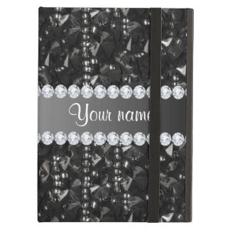 Faux Black Sequins and Diamonds Cover For iPad Air