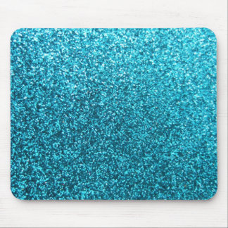 Faux Blue Glitter Mousepad