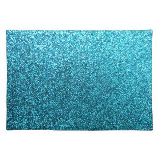 Faux Blue Glitter Placemat