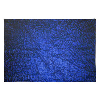 Faux Blue Leather Texture Place Mats