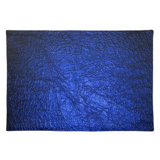 Faux Blue Leather Texture Place Mats