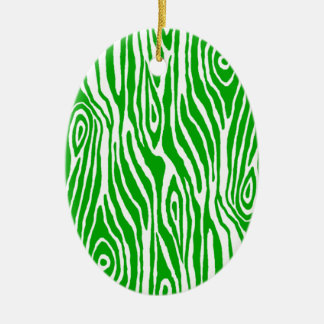 Faux Bois Ceramic Ornament