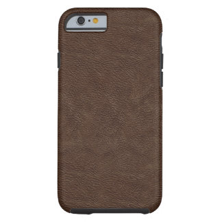 Faux Brown Leather Tough iPhone 6 Case