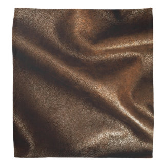 Faux Brown Leather Grain Bandana