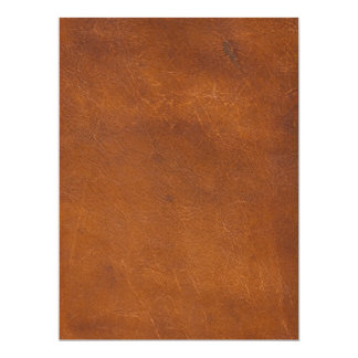 Faux Brown Leather Texture 6.5x8.75 Paper Invitation Card