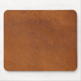 Faux Brown Leather Texture Mouse Pad