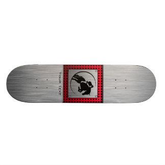 Faux Brushed Aluminum Equestrian. Skate Boards