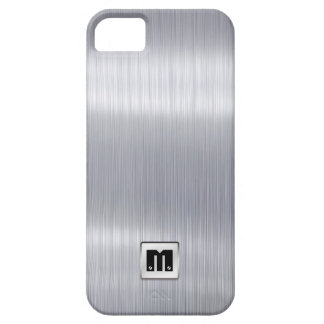 Faux Brushed Aluminum with custom monogram Case For The iPhone 5