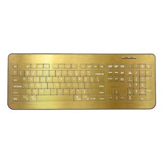 Faux Brushed Gold Wireless Keyboard