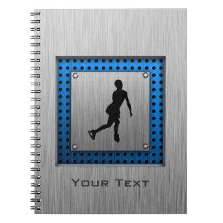 Faux Brushed Metal; Figure Skating Notebook