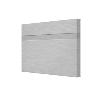 Faux Brushed Metal with Groove Gallery Wrap Canvas