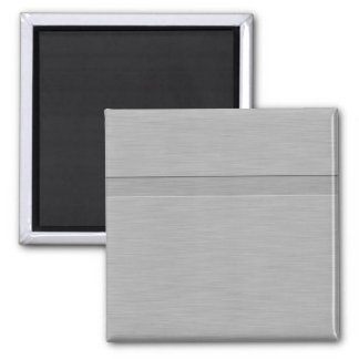 Faux Brushed Metal with Groove Square Magnet