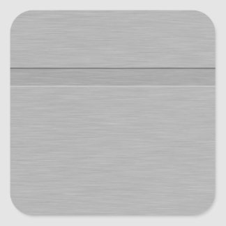 Faux Brushed Metal with Groove Square Sticker