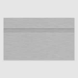 Faux Brushed Metal with Groove Rectangular Sticker
