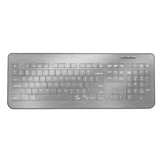 Faux Brushed Silver Wireless Keyboard