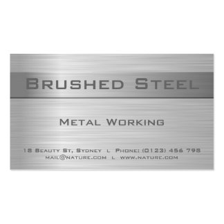 Faux Brushed Steel Business Card