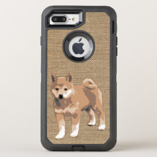 Faux burlap with Shiba Inu Dog Year 2018 Case