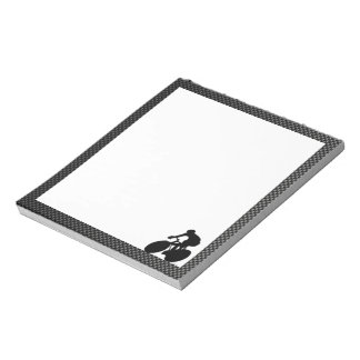 Faux Carbon Fiber Cycling Notepad
