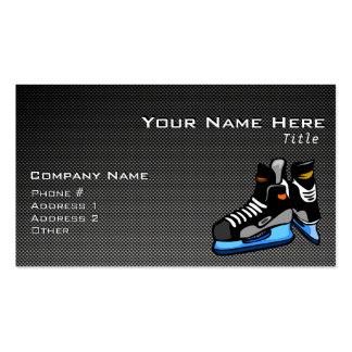 Faux Carbon Fiber Hockey Skates Pack Of Standard Business Cards