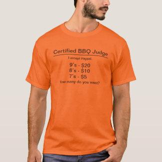 Faux Certified BBQ Judge TShirt