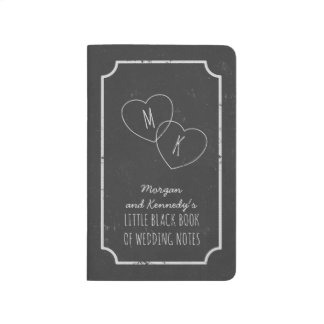 Faux Chalkboard Little Black Book of Wedding Notes Journals