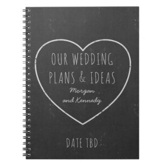 Faux Chalkboard Wedding Plans and Ideas Journal