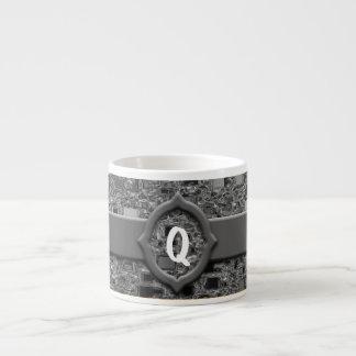 Faux Chrome Mini Box Design & Monogram Espresso Cup