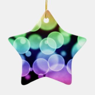 faux color bokeh star ornament