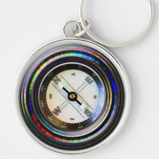Faux Compass Keychains