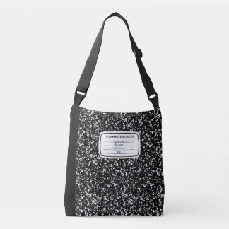 Faux Composition Book Crossbody Bag