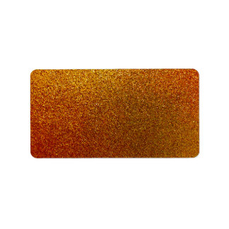 Faux Copper Gold Yellow Glitter Background Sparkle Label