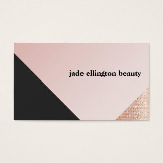 Faux Copper Sequin Black and Pink Diagonal Beauty