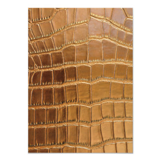 Faux Crocodile Leather Animal Skin Pattern Card